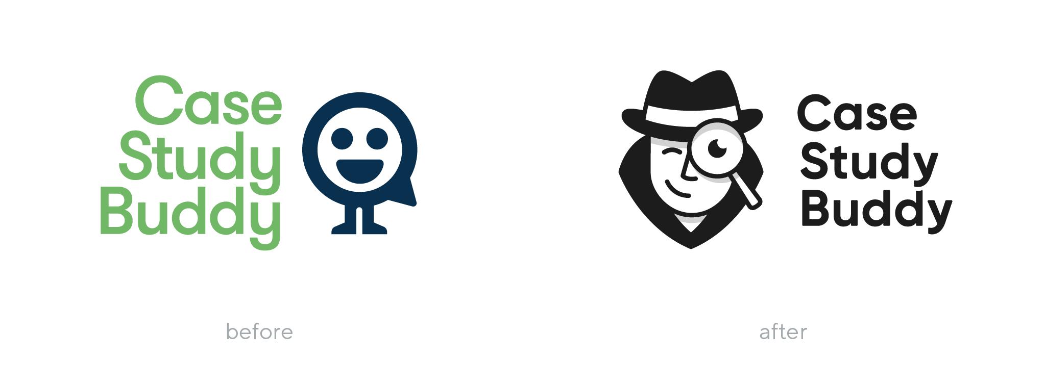 Case Study Buddy before and after rebranding