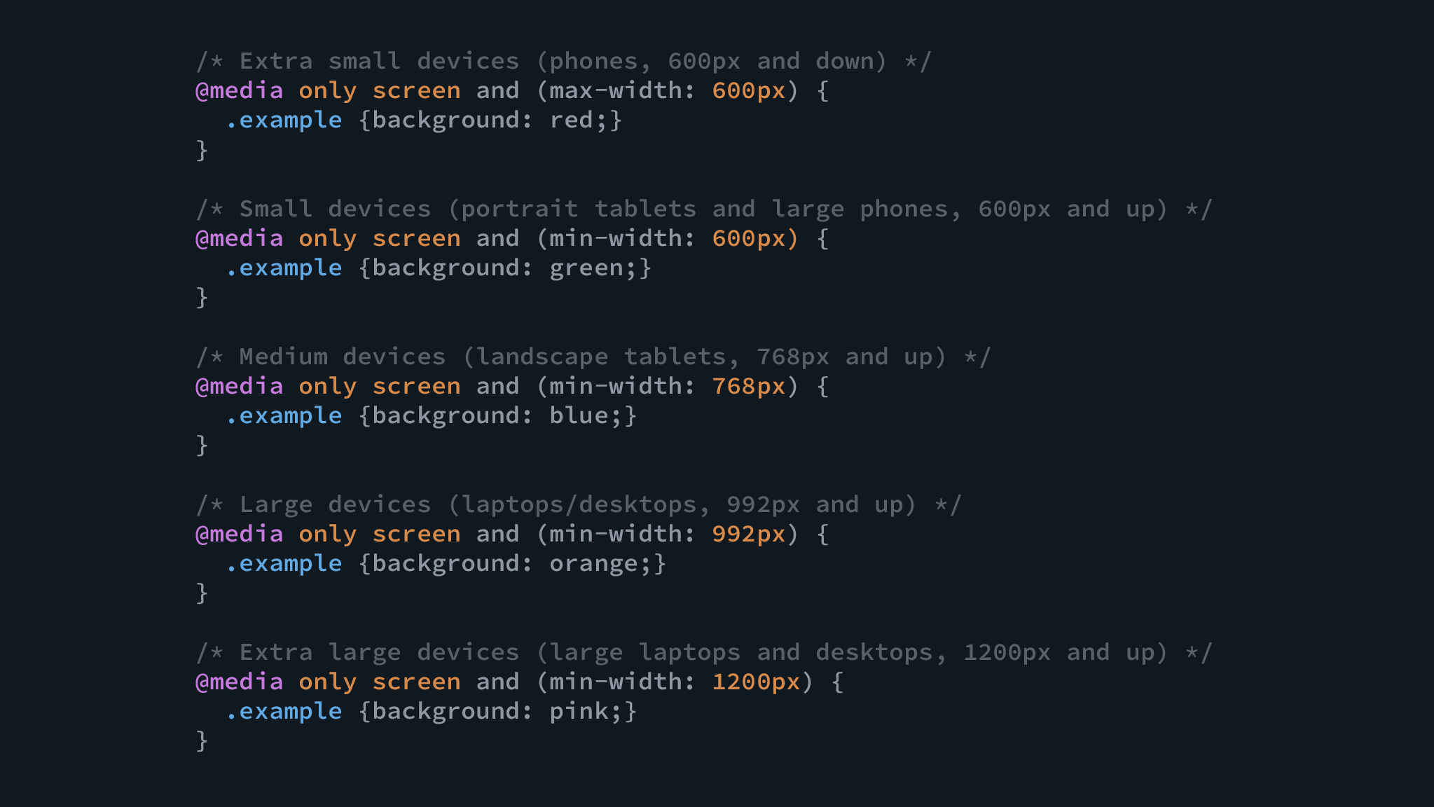 Illustration of lines of code used in responsive web design