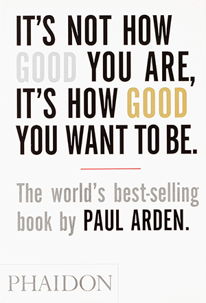 its not how good you are it's how good you want to be book cover