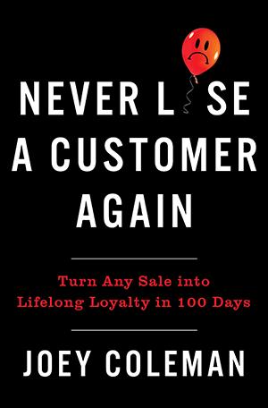 never lose a customer again book cover